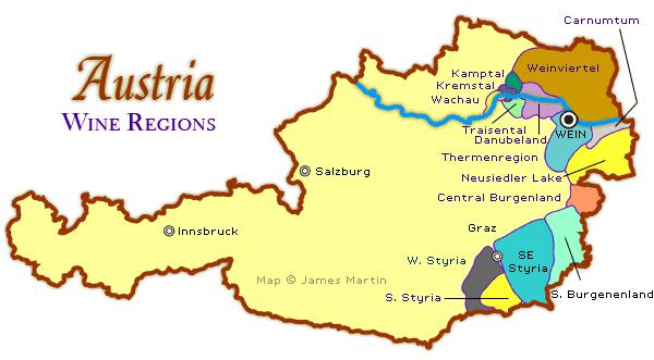 Sunday Austria Wine Map Vinum Vine