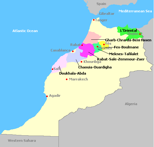 Morocco Wine Map