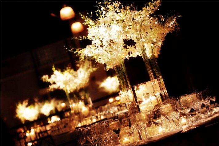 bryllup centerpieces dekoration