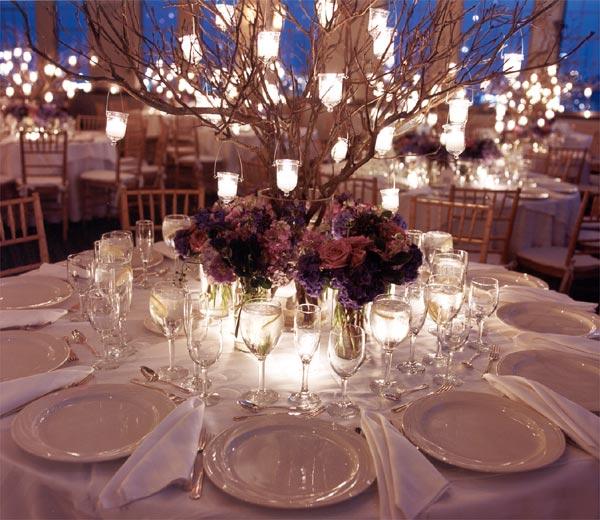 recepção de casamento decoração centerpieces