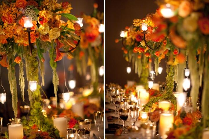 ricevimento di nozze centrotavola decorazione