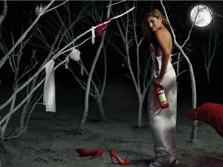 Eva Mendes Campari Wine 2008 August