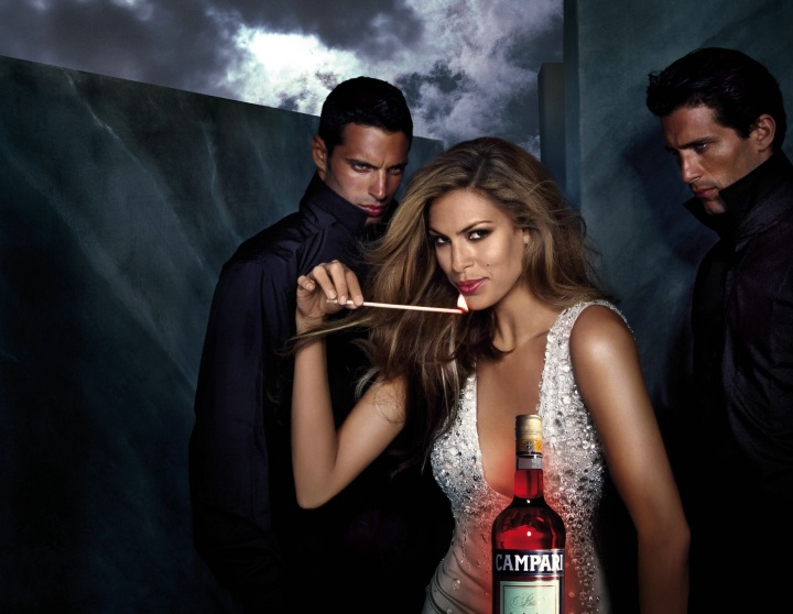 Eva Mendes Campari Wine 2008 December