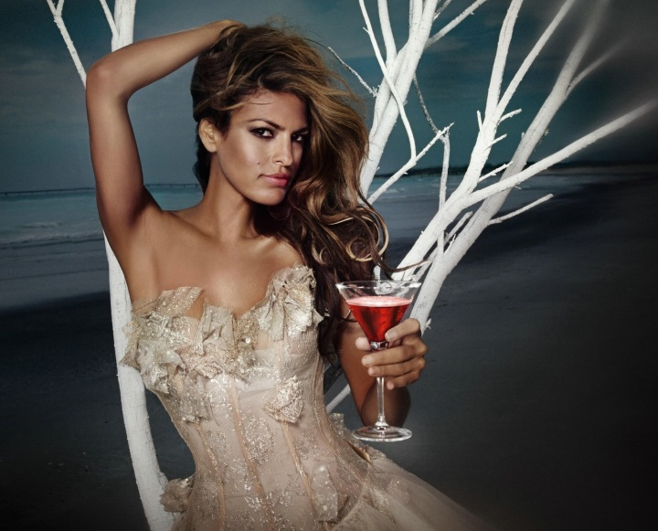 Eva Mendes Campari Wine 2008 July