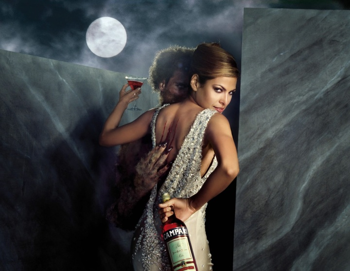 Eva Mendes Campari Wine 2008 November