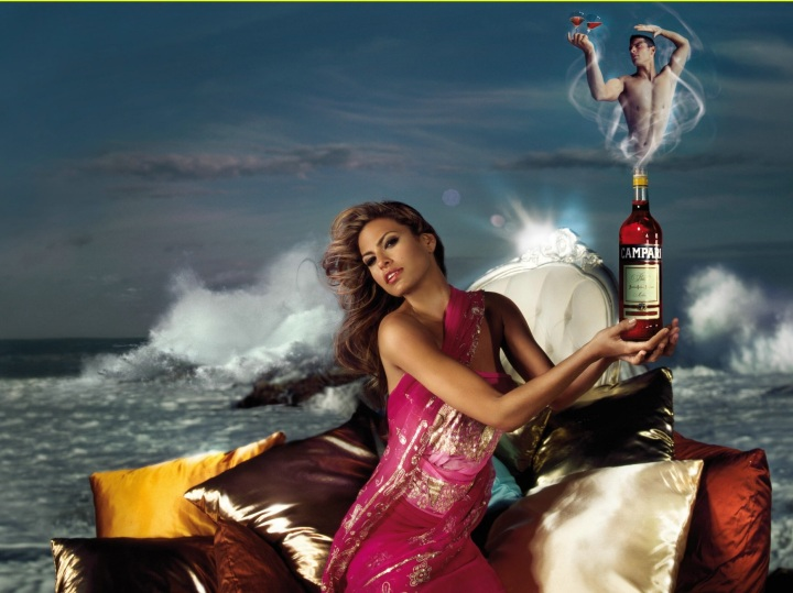 Eva Mendes Campari Wine 2008 October