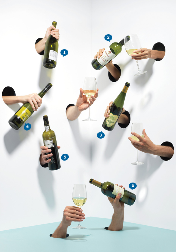 How to hold the wine.