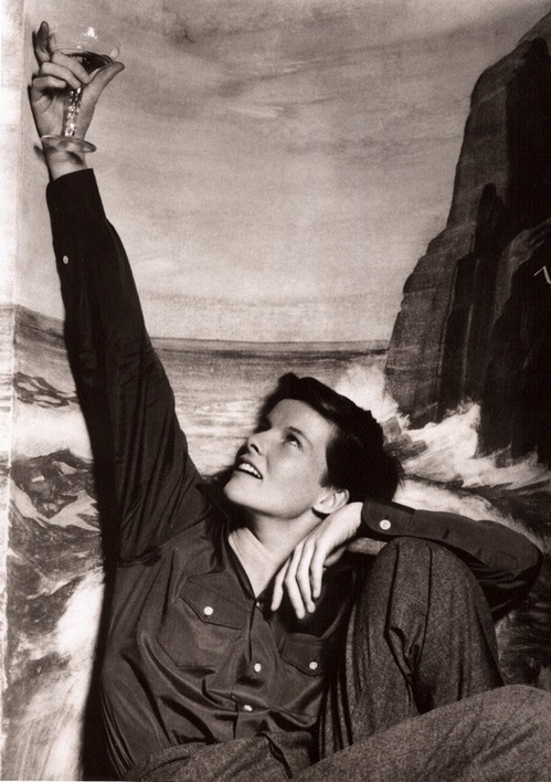 Katherine Hepburn and Wine