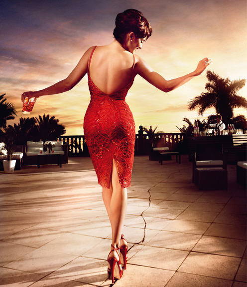 Penelope Cruz Campari 2013 wine advertisement
