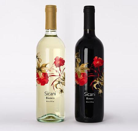Sicani Bianco Wine Label