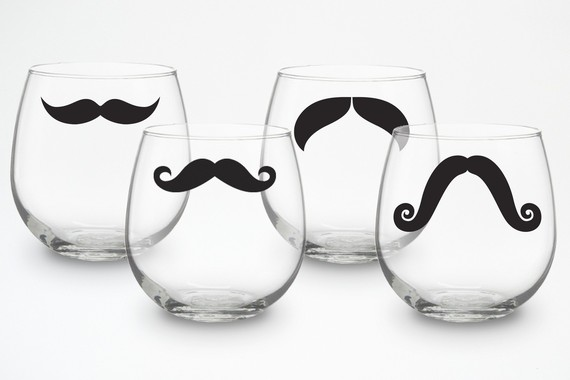 Stemless Wine Glasses by Modernmadness on Etsy