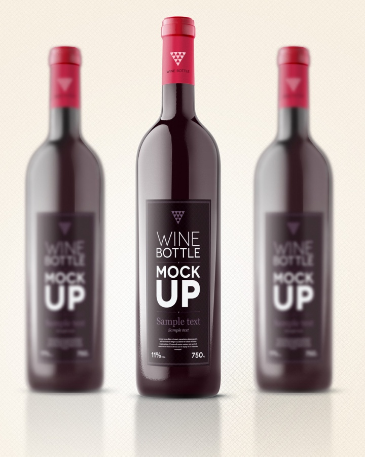 Wine Bottle Mock Up label