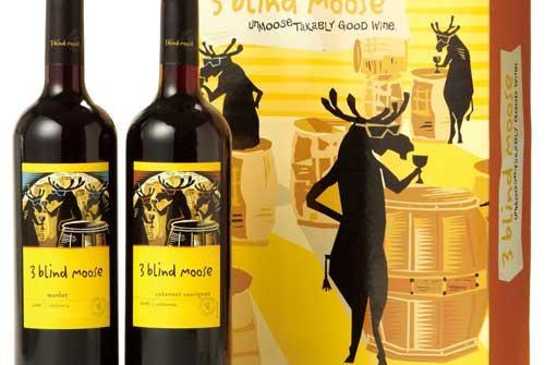 3 blind moose merlot california wine