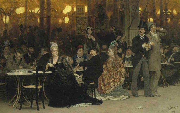 A Parisian Café by Ilya Repin