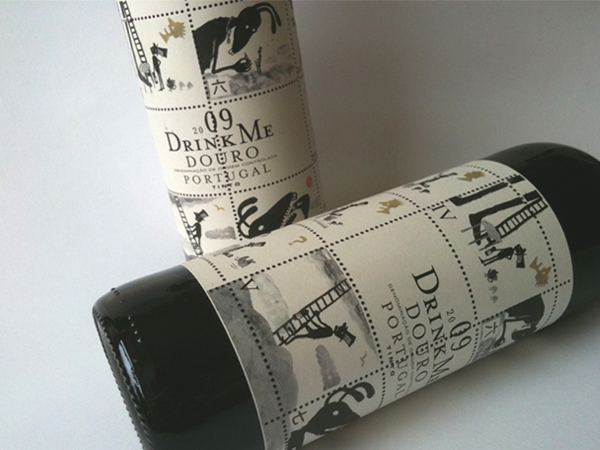 Drink Me Douro Portugal Wine Bottle Label 2009
