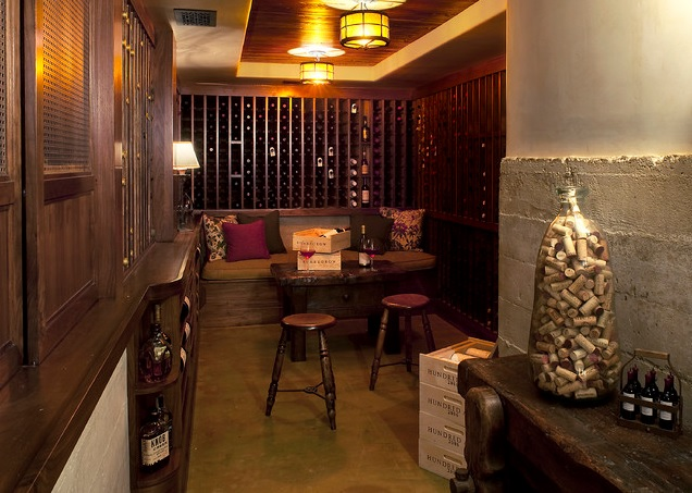 Tommy Chambers Interiors, Inc., LA, CA US 90046.  Architect David Serrurier.  Wine Cellar