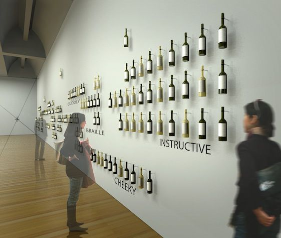 Wine Label Gallery, image courtesy Diller Scofidio + Renfro