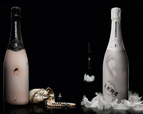 Zarb Bizarre Champagne Wine  Packaging