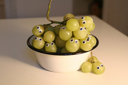 grapes eyes eat me