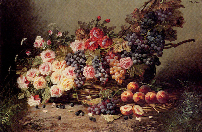 Max Carlier grapes still life