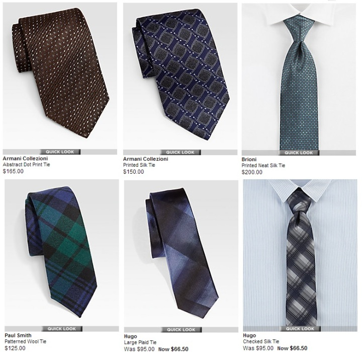 Saks Summer men neckties