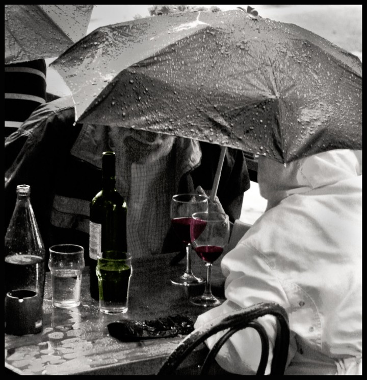 Wine in the rain