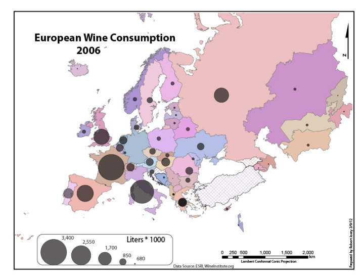 European Wine Consumption 2006 trend