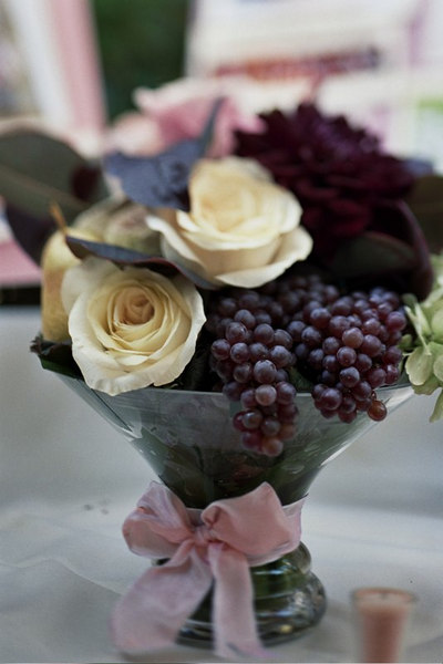 Grapes and Rose centerpiece