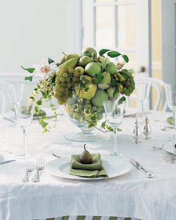 kāzu centerpiece vīnogas