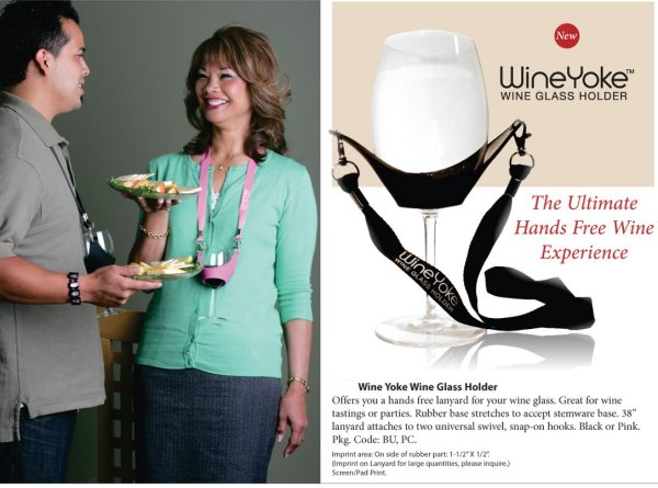 WineYoke wine glass holder necklace