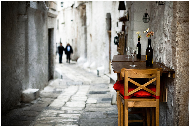wine sidewalk