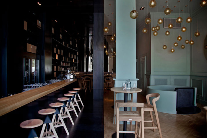 Zona wine bar and restaurant by Heni Kiss and Pos1t1on Budapest Hungary