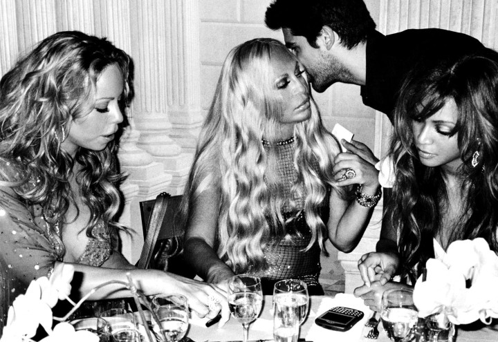 Donatella Versace and Mariah Carey