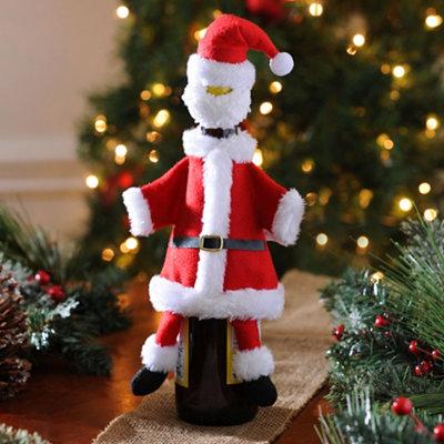 Santa Claus Suit wine bottle 2