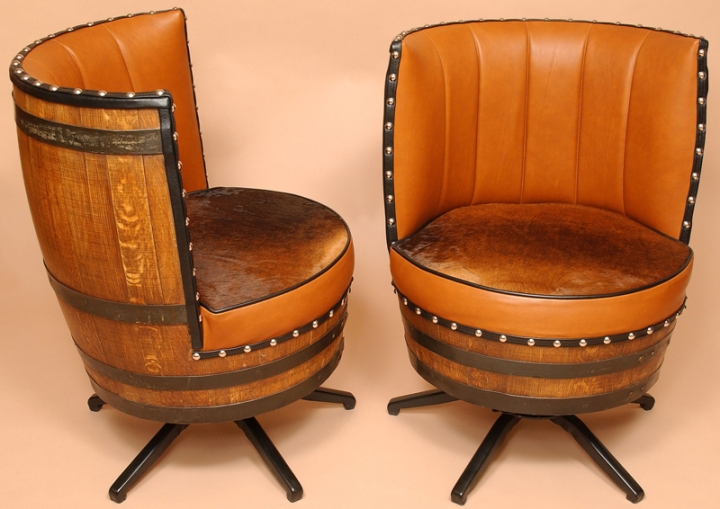 wine barrel chairs