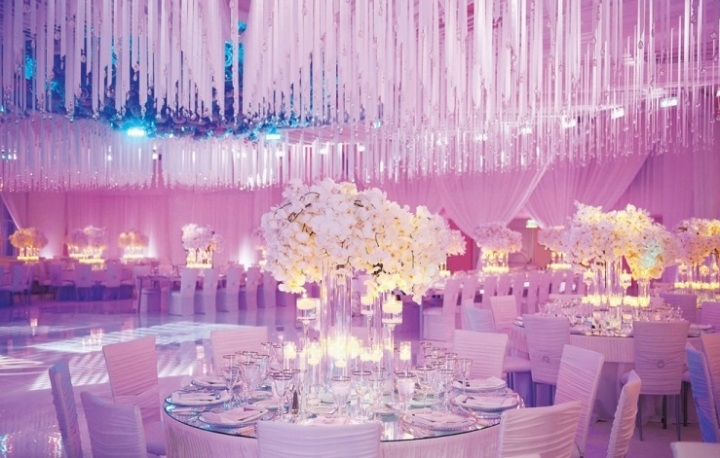 crystals wedding decoration wine glasses