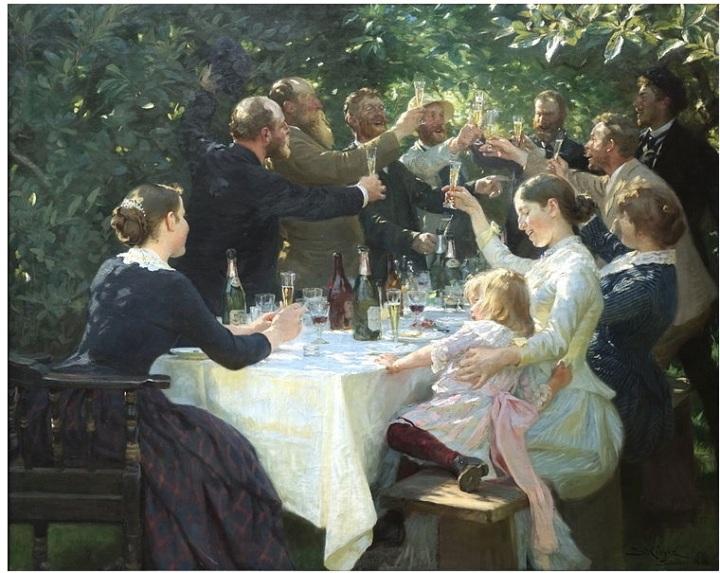 Hipp hipp hurra! Konstnärsfest på Skagen - Peder Severin Krøyer.