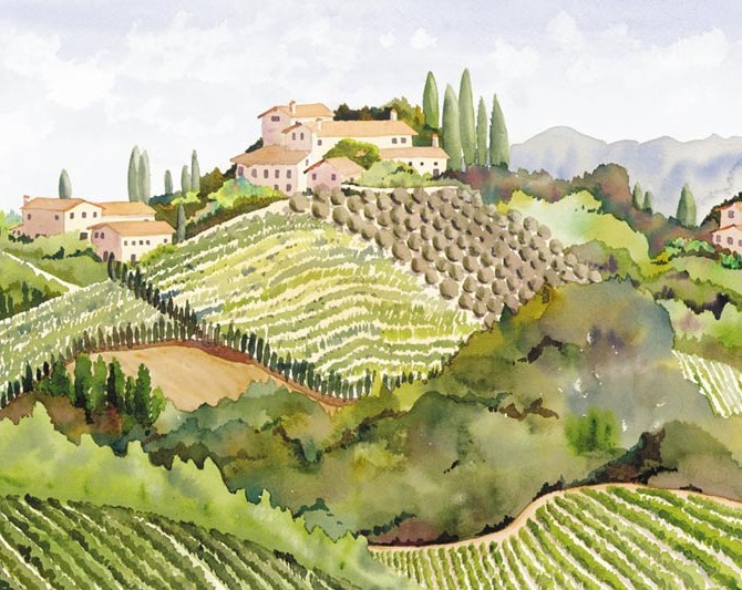 Monterrigioni Vineyard by Heidi Rosner