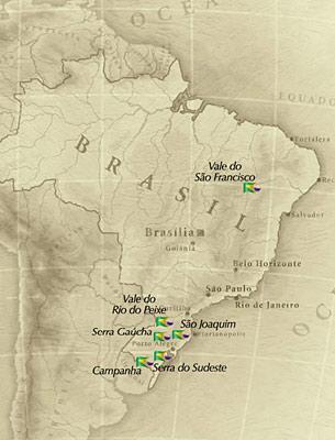 Brazil wine map