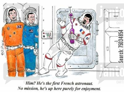 'Him? He's the first French astronaut. No mission, he's up here purely for enjoyment.'