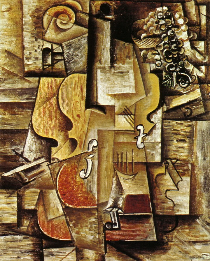 Picasso 1912 Violin and Grapes