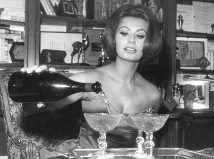 Sophia Loren and Wine
