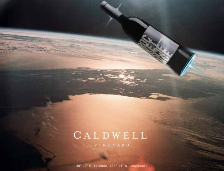 Caldwell Vineyard label finalist Rocket Science