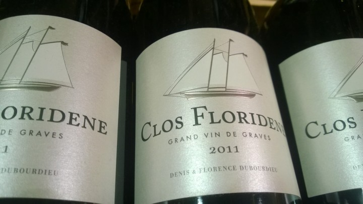 Clos Floridene Grand vin de graves 2011 wine label