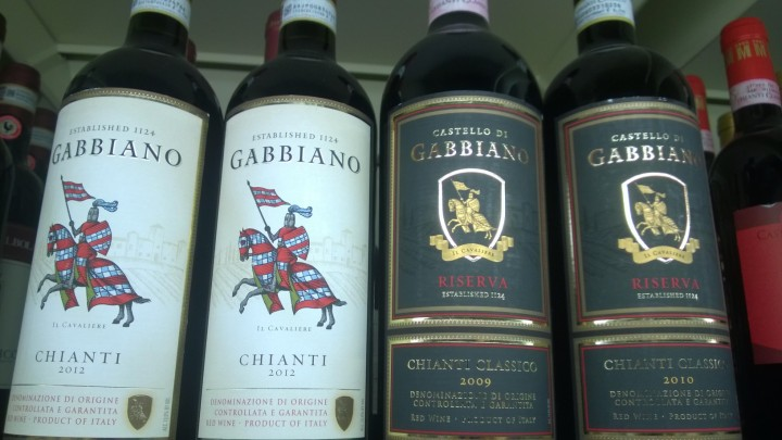 Gabbiano Chianti 2012 Wine Label