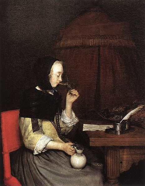 Gerald ter Borch II,  Woman Drinking wine