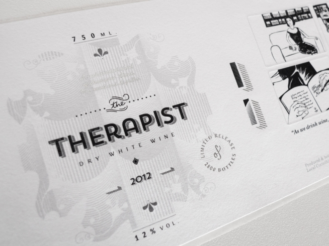 Greek designers, Marios Karystios and George Tzavaras, created a simplified and elegant package design for The Therapist.