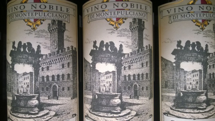 Vino Nobile Di Montepulciano wine label