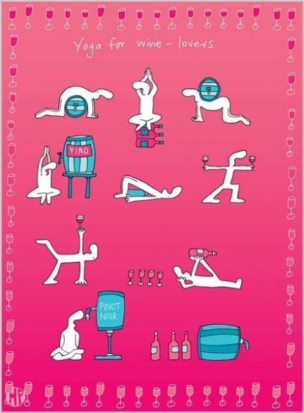 Yoga for wine lover