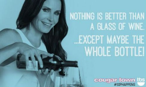 Cougar Town Courteney Cox Wine